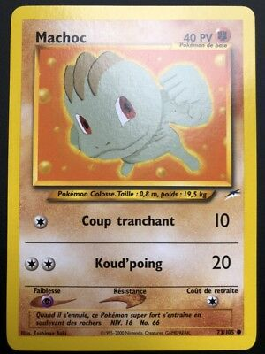 Pokemon Card Machop 73/105 Commune Neo Destiny Wizard Fr New