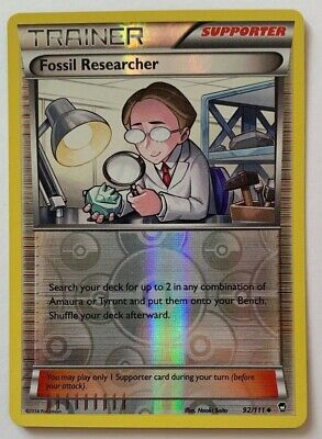 Fossil Researcher 92/111 Reverse Holo Xy Furious Fists 2014 Pokemon Barely Used