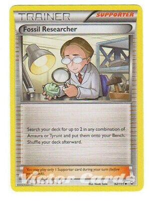 Pokemon Fossil Researcher - 92/111 - X4 - Furious Fists - MP