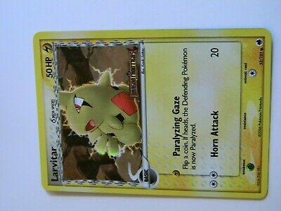 Pokemon card Larvitar Holo EX Dragon Frontiers Line Error 52/101 NM