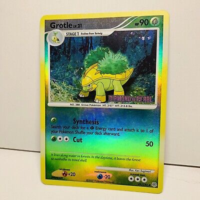 1x Grotle 49/130 Reverse Holo STAMPED Diamond & Pearl Pokemon Card
