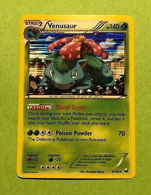 Venusaur - 3/108 - Dark Explorers - Holo Rare - Pokemon Card Light Play