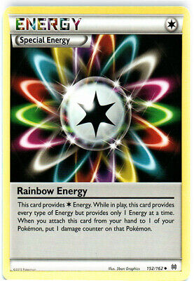 1x - Rainbow Energy - 152/162 - Uncommon LP Pokemon BREAKThrough