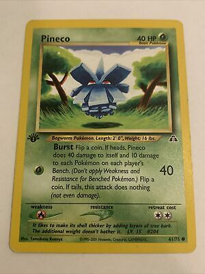Pokemon PINECO 61/75 1st Edition Neo Discovery