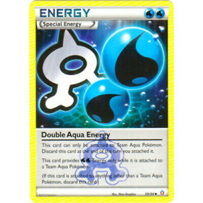 1x - Double Aqua Energy - 33/34 - Uncommon PL/MP Pokemon Double Crisis