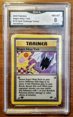 **2000 Pokemon 1st Edition KOGA'S NINJA TRICK Gym Challenge Trainer GMA NM 8**