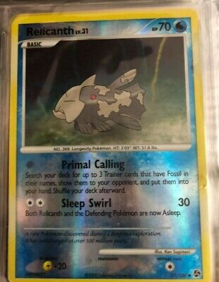 Pokemon Card Relicanth LV.31 Great Encounters 51/106 Reverse Holo TCG!