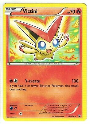 Pokemon TCG BW Noble Victories, Victini 15/101 Rare, Mint