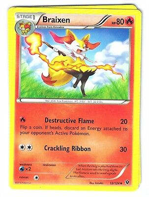 Pokemon XY Fates Collide, Braixen 12/124 Uncommon, Mint,
