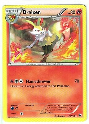 Pokemon XY Breakthrough, Braixen 26/162, Uncommon NM,