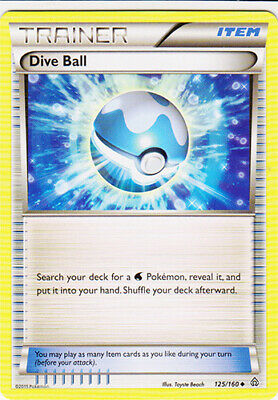 1x - Dive Ball - 125/160 - Uncommon LP, English Pokemon Primal Clash