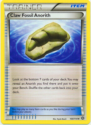 1x - Claw Fossil Anorith - 100/114 - Uncommon NM, English Pokemon XY Steam Siege