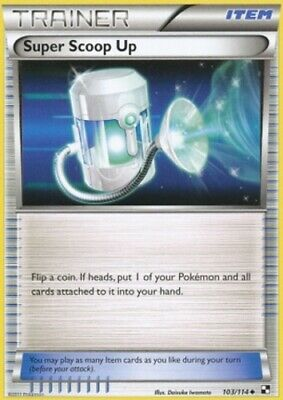 1x - Super Scoop Up - 103/114 - Uncommon PL/MP, English Pokemon Black and White