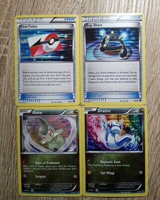 Pokemon Dratini 2 Axew 12 Exp Share 18 & First Ticket 20 Dragon Vault Holos - LP