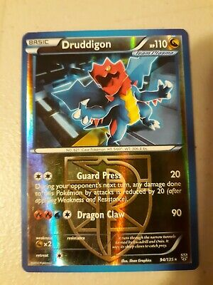 1x Pokemon DRUDDIGON 94/135 Reverse Holo Rare Plasma Storm - Lightly Played