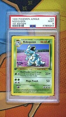 Pokemon Card: 1st Edition NIDOQUEEN NON-HOLO PSA 9 MINT (JUNGLE)