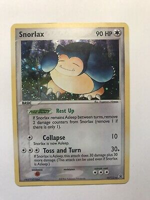 Pokemon Card Snorlax 15/112 Rare Holo Ex FireRed LeafGreen Lightly Played 2004