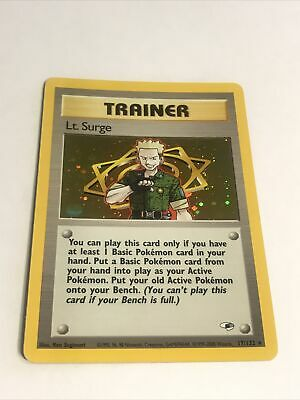 LT. SURGE - 17/132 - Gym Heroes - Holo - Pokemon Card - NM/Mint PSA RDY