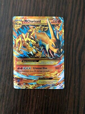 Pokemon 2014 Mega M Charizard EX Flashfire 107/106 Holo Secret Rare EXCELLENT