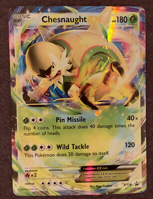 Chesnaught EX Pokemon Black Star Promo XY18 Near Mint Condition/Never Played