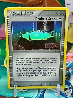 Drake's Stadium Ex Holo Stamped Trainer Card EX Power Keepers 72/108 Pokemon NM