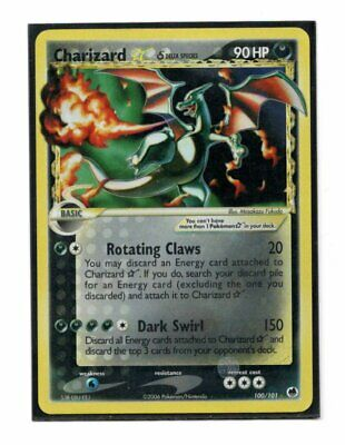 Pokemon Charizard Gold Star 100/101 EX Dragon Frontiers Heavily Played Holo HP