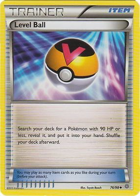 x4 Level Ball - 76/98 - Uncommon Pokemon XY Ancient Origins M/NM English