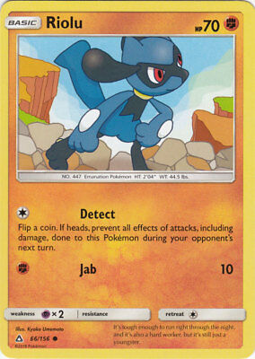 x4 Riolu - 66/156 - Common Pokemon SM5 Ultra Prism M/NM English