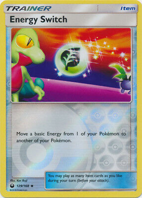 Pokemon SM - Celestial Storm Energy Switch #129 Uncommon Reverse Holofoil - NM