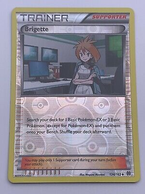 Pokemon💎Brigette Reverse Holo💎2015 BREAKthrough 134/162🌟Nintendo🌟Rare Card