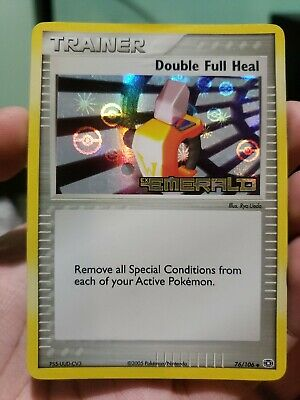 Pokemon: DOUBLE FULL HEAL [76/106] - [Stamped Holo Rare] - [EX Emerald Set] - NM