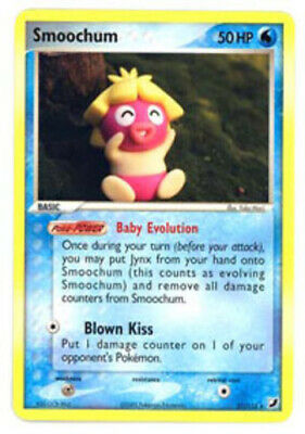 Slightly Played, English - 1 x Pokemon Smoochum - 31/115 - Rare EX Unseen Forces
