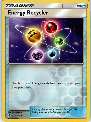 Guardians Rising Energy Recycler 123/145 Reverse Holo Trainer Pokemon Card LP