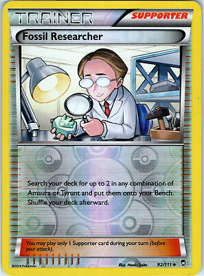 Furious Fists Fossil Researcher 92/111 Reverse Holo Pokemon Trainer Trading Card