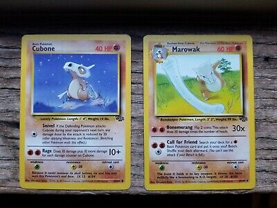 Cubone  and Marowak Jungle Pokemon TCG Cards