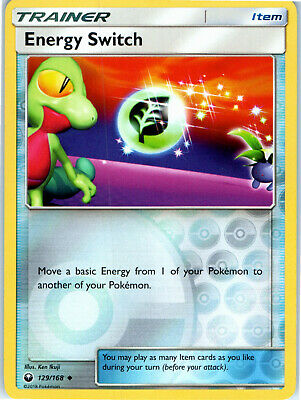 Celestial Storm Reverse Holo Energy Switch 129/168 Pokemon Trading Card LP NM
