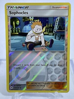 SOPHOCLES 123/147 S&M Burning Shadows Reverse Holo Pokemon Card  MINT