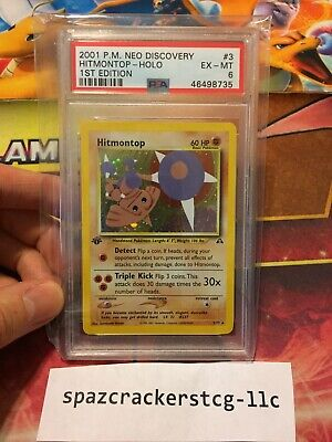 Pokemon Neo Discovery 1st ed Hitmontop #3/75 PSA 6 CROSS/REGRADE?
