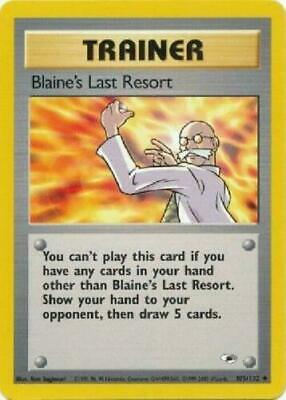Pokemon Gym Heroes Blaine's Last Resort 105/132 Pokemon Card Lightly Played