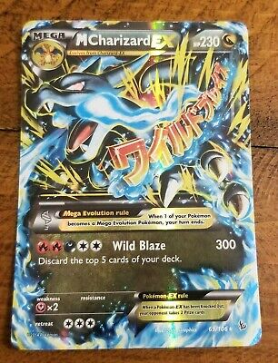 MEG M CHARIZARD EX 69/106 Flashfire Pokemon Card Near Mint