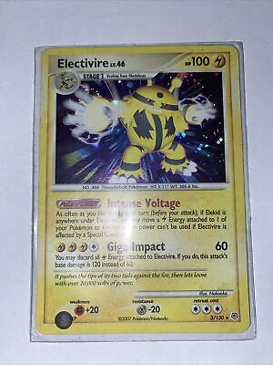Pokemon Card Electivire Holo 3/130 Diamond & Pearl NM-MINT PSA Worthy