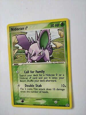 Nidoran 71/112 Pokemon Card EX FireRed and LeafGreen. Unplayed Excellent.