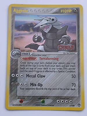 Pokemon💎Aggron Holo Rare💎2007 Power Keepers 1/108🌟Nintendo🌟Rare