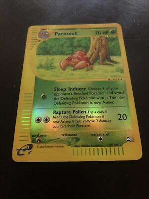 PARASECT - 27/147 - Aquapolis - Reverse Holo - Pokemon Card - LP