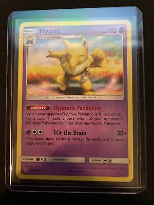 Pokemon Unbroken Bonds Hypno Rare Card 72/214 NM