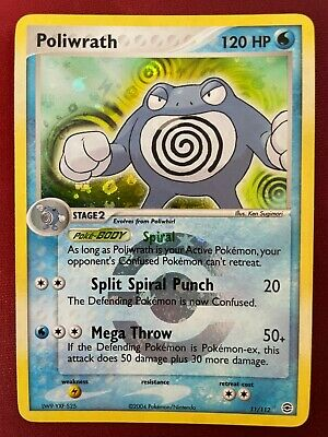 POLIWRATH 11/112 EX FireRed & LeafGreen REVERSE HOLO Pokemon card NM Near Mint