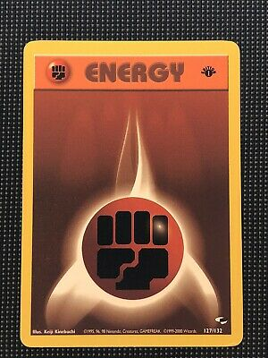 Fighting Energy Card 127/132 1st Edition Gym Heroes Pokemon Cards LP