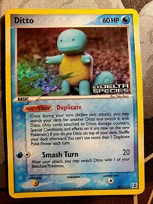 Pokemon Ditto 40/113 EX Delta Species Reverse Holo Stamped Played Condition