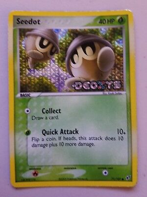 Pokemon Holo Card Seedot 71/107 Unplayed Mint Condition Deoxys