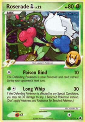 Pokemon Roserade [GL] 12 Rising Rivals Holo Rare Lightly Played Fast Shipping!